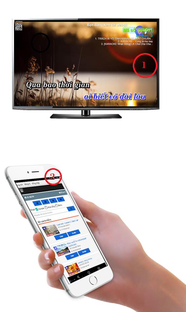 Hướng dẫn Karaoke - Xem video trực tuyến có sử dụng tính năng điều khiển